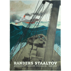 1945 Industrial Ship Advertisement - Randers Staaltov