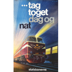 1969 Danish Railways by Aage Rasmussen - Original Vintage Poster