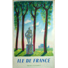 1953 French Train SNCF French Ile de France - Original Vintage Poster