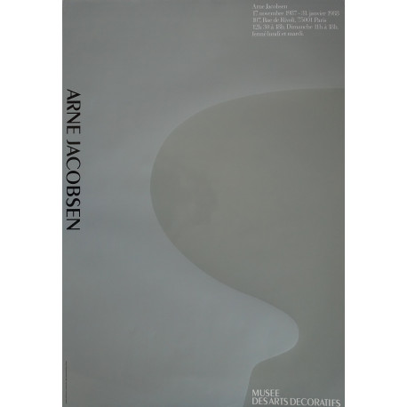 1987 Arne Jacobsen Ant Chair Exhibition Poster - Original Vintage Poster