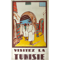 1950s Tunisia Travel Poster by Yahia - Original Vintage Poster