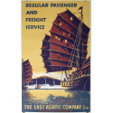 1950s The East Asiatic Company Passenger & Freight Service - Original Vintage Poster