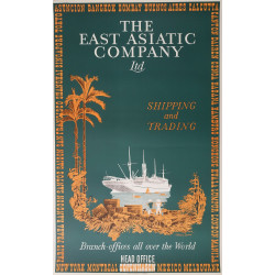 1930s The East Asiatic Company - Shipping and Trading - Original Vintage Poster