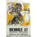 1957 French Exhibition Biennale by Jean Commere - Original Vintage Poster