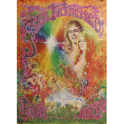 1968 San Francisco Free City Psychedelic Hippie Artwork - Original Vintage Poster