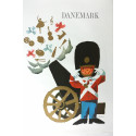 1960s Denmark Travel Poster by Ib Antoni (cannon) - Original Vintage Poster