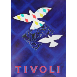 1988 Tivoli Gardens by Peter Bysted - Original Vintage poster
