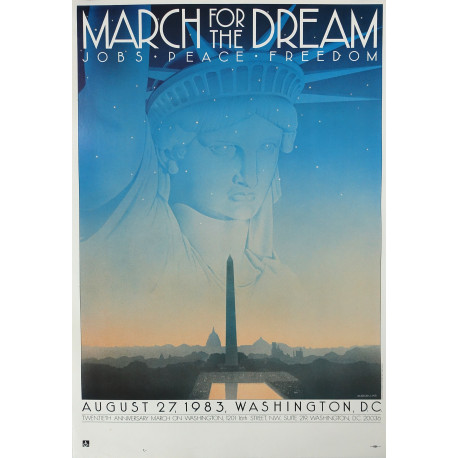 1983 March on Washington March for the Dream - Original Vintage Poster