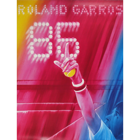 1985 The French Open Advertisement by Jacques Monory - Original Vintage Poster