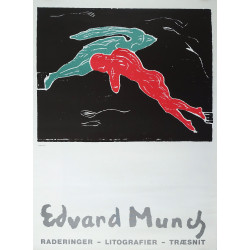 1981 Edward Munch Exhibition Poster - Original Vintage Poster