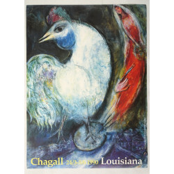 1990 Chagall on Louisiana Museum of Modern Art - Original Vintage Poster