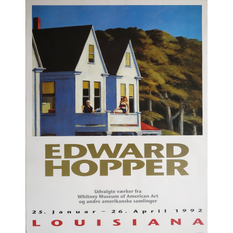 1992 Edward Hopper at Louisiana Museum of Modern Art - Original Vintage Poster