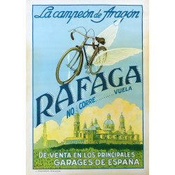 1930s Rafaga Spanish Bicycle Advertisement - Original Vintage Poster