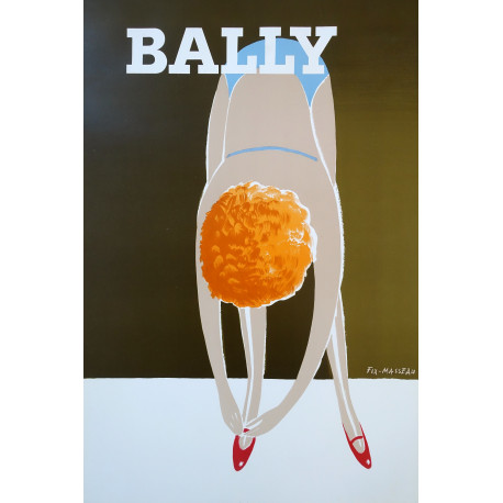 1983 Bally La danseuse by Pierre Fix-Masseau - Original Vintage Poster
