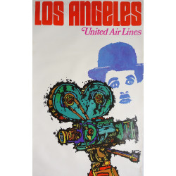 1967 Los Angeles United Airlines by James Jebavy - Original Vintage Poster