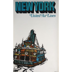 1967 New York United Air Lines by James Jebavy - Original Vintage Poster