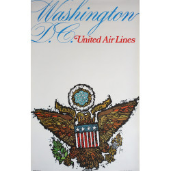 1967 Washington United Airlines by James Jebavy - Original Vintage Poster
