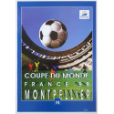 1998 FIFA World Cup Football/Soccer Championship - Montpellier - Original Vintage Poster