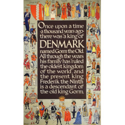 1972 Kings & Queens of Denmark - Original Vintage Poster