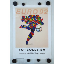 1992 UEFA European Football Championship in Sweden - Original Vintage Poster