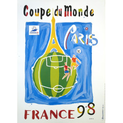 1998 FIFA World Cup Football/Soccer Championship - Paris - Original Vintage Poster