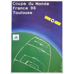 1998 FIFA World Cup Football/Soccer Championship - Toulouse - Original Vintage Poster