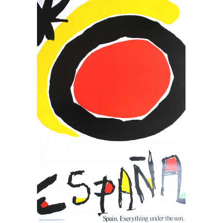 1986 Spain Travel Poster by Miro - Original Vintage Poster