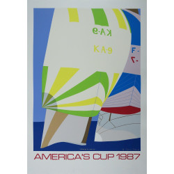 1987 America's Cup Race (Fremantle) I by Franco Costa - Original Vintage Poster