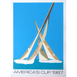 1987 America's Cup Race (Fremantle) VI by Franco Costa - Original Vintage Poster