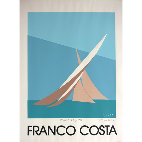 1980 America's Cup signed by Franco Costa - Original Vintage Poster