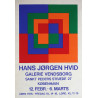 1982 Danish Modern Art Exhibition poster by Hans Jørgen Hvid - Original Vintage Poster