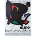1974 Miro Exhibition Poster Paris L'oevre Graphique- Original Vintage Poster