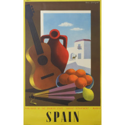 1950s Spain Travel Poster by Guy Georget - Original Vintage Poster