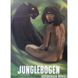 1970s The Jungle Book by Sikker Hansen (Danish Version) - Original Vintage Poster