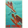 1938 Air France by Roger de Valerio - Original Vintage Poster