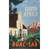 1949 Fly to South Africa by BOAC and SAA - Original Vintage Poster