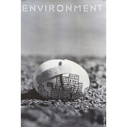 1973 Environment Campaign poster by Saul Bass - Original Vintage Poster