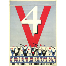 1940s WWII Allied Victory Campaign Poster - Original Vintage Poster