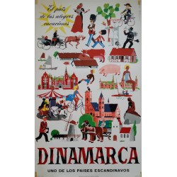 1950s Denmark Tourist Advertisement - Original Vintage Poster
