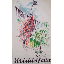 1953 Middelfart, Denmark Tourist Advertisement - Original Vintage Poster