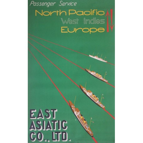 1935 East Asiatic Company by Edmund Bille - Orginal Vintage Poster