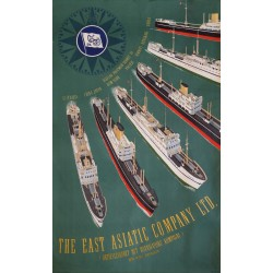 1950 East Asiatic Company by Sten Heilmann Clausen - Original Vintage Poster