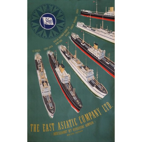 1950 East Asiatic Company by Sten Heilmann Clausen - Orginal Vintage Poster
