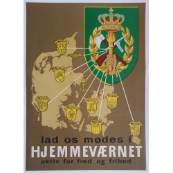 1960s Danish Home Guard Recruitment Poster - Original Vintage Poster