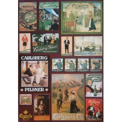 1970s Carlsberg Advertisement - collection of old Carlsberg Enamel Signs and Advertisement - Original Vintage Poster