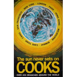1960s Cooks Travel Poster - Original Vintage Poster