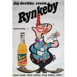 1970s Rynkeby Juice Advertisement - Original Vintage poster