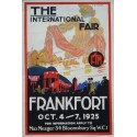 1925 Frankfort International Fair - Original Vintage Poster
