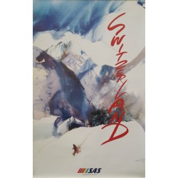 1992 Switzerland Travel Poster by SAS - Original Vintage Poster