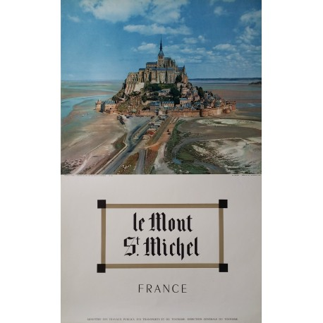 1960s France, Mont Saint-Michel - Original Vintage Poster